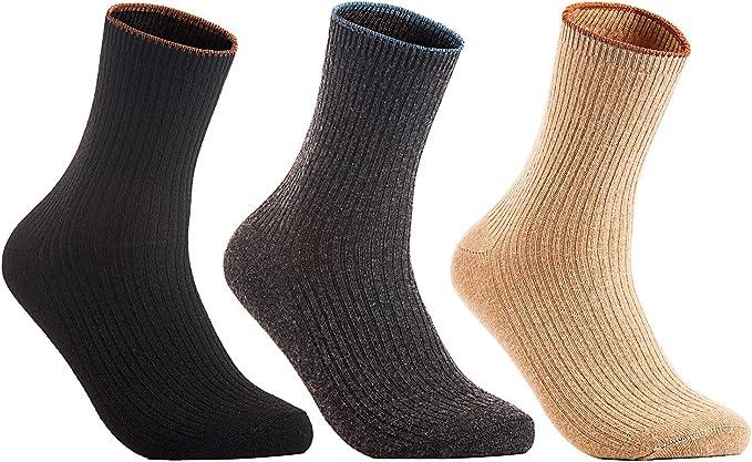 Naturel Pure Merino Wool Mix Color Women Winter Socks 6 Pairs Pack *Warmly*