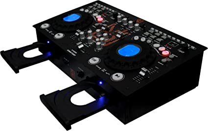 Mr. Dj CDMIX CDMIX700BT Professional Dual CD Mixer with USB/SD Card and Bluetooth Technology