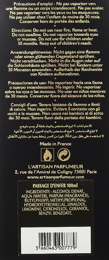 MlAmazon Toilette100 Parfumeur Passage D'enfer Eau L'artisan De K3lJcF15uT