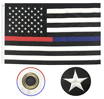 2 Pack Police Thin Blue Line and Thin Red Line Flag  3x5 Foot with Grommets