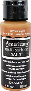 product image for DecoArt Americana Multi-Surface Satin Acrylics Paint, 2-Ounce, Brown Sugar