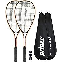 Prince 2 raquetas de squash Power Ti + fundas + 3 bolas de squash (varias opciones)