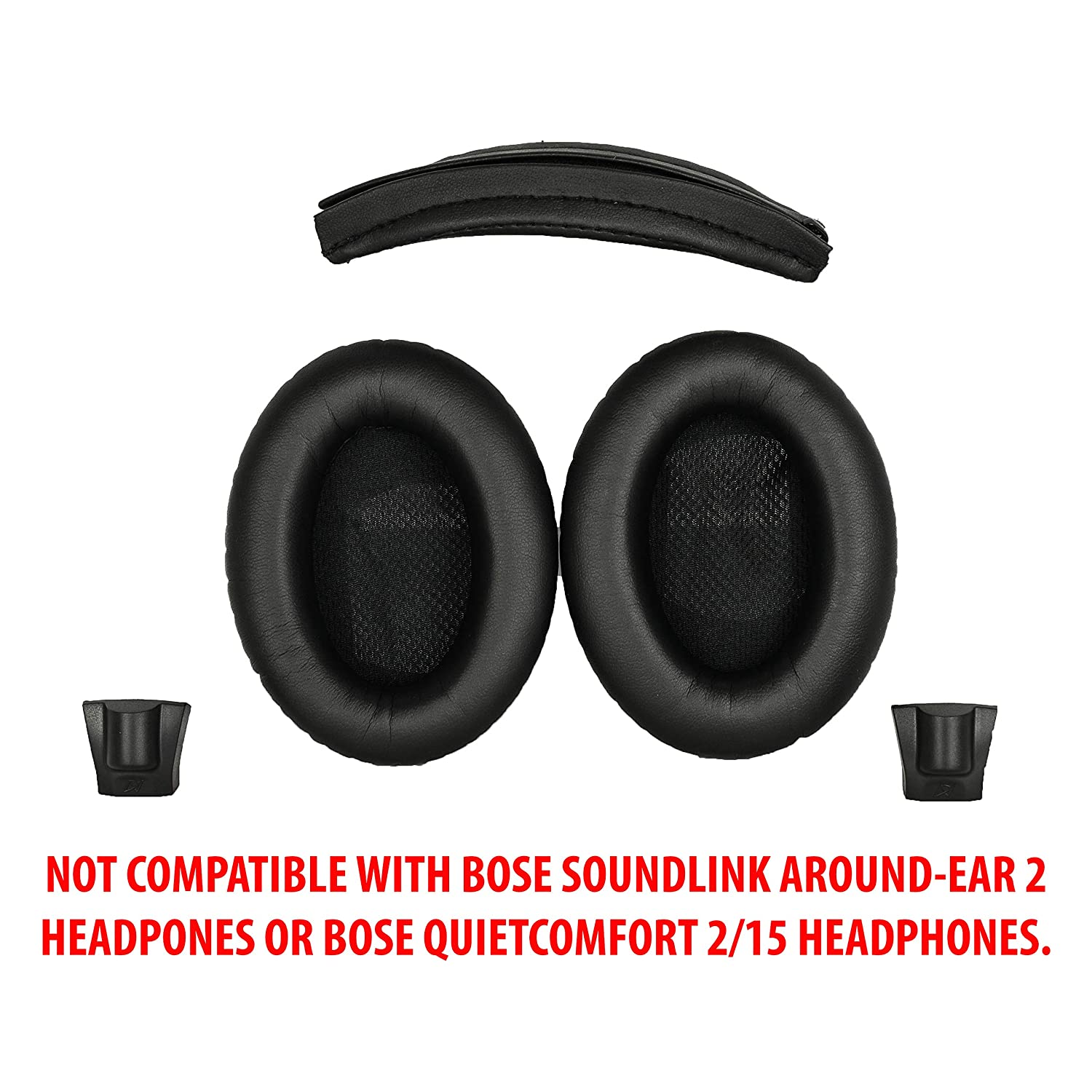 f2efb468b16 Replacement Ear pads and Headband Cushion pad for Bose Around-Ear 2 (AE2),  Around-Ear 2 Wireless (AE2w) and SoundTrue Around-Ear (AE) headphones - NOT  ...