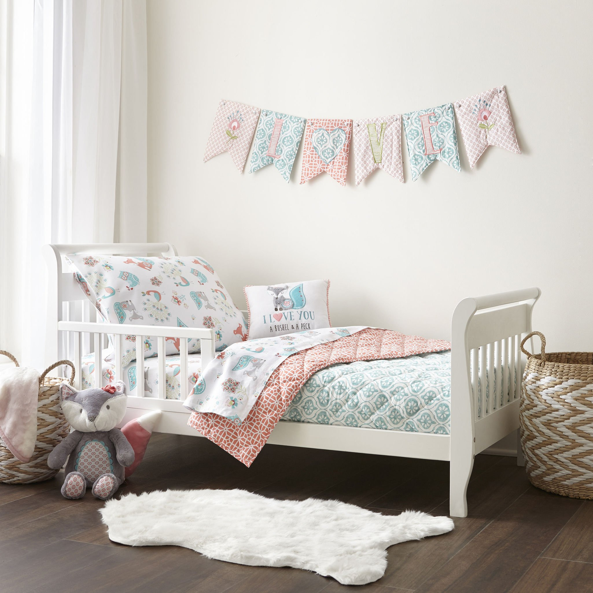 Amazon Com Levtex Baby Fiona 5 Piece Crib Bedding Set