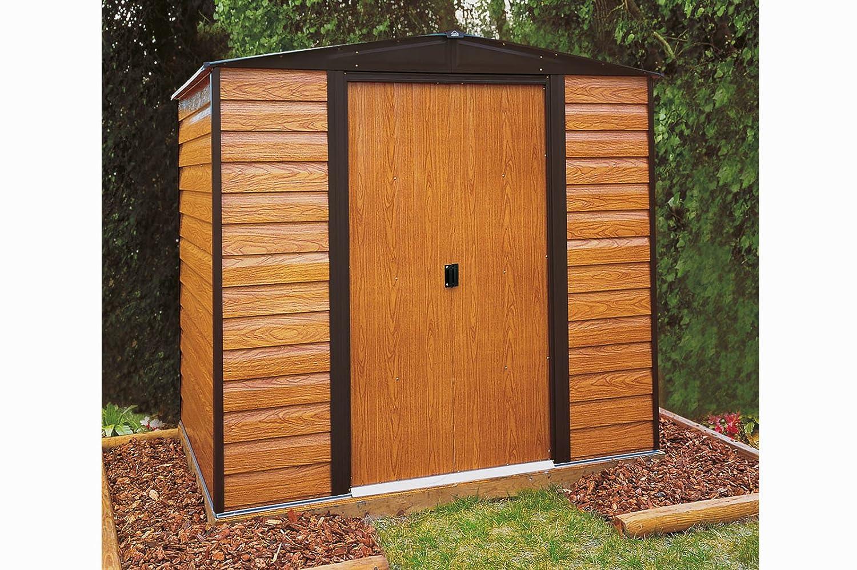 Pergart Gerätehaus Frankfurt 65 Holzstruktur
