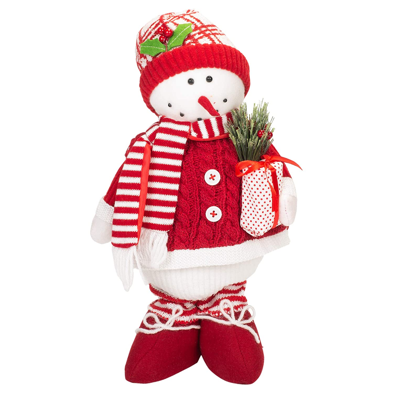 Large Carolines Treasures SB3133-CS Baby Calf Candy Cane Holiday Christmas Christmas Stocking Multicolor