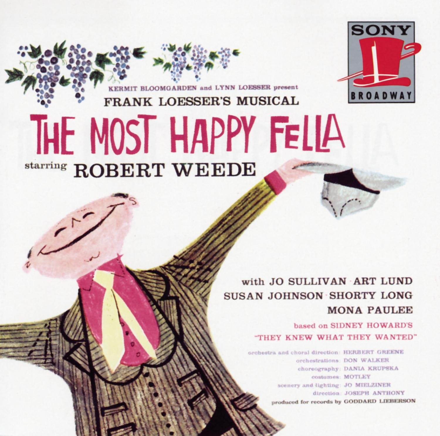 2021 spring and summer new The Most High quality new Happy Fella Cast Original 1956 Broadway