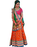 Lehenga Choli (ShreeBalaji Creation Women's Heavy Embroidered Tafeta Silk lehnga/Lehenga Choli/Lehenga Choli For Women)