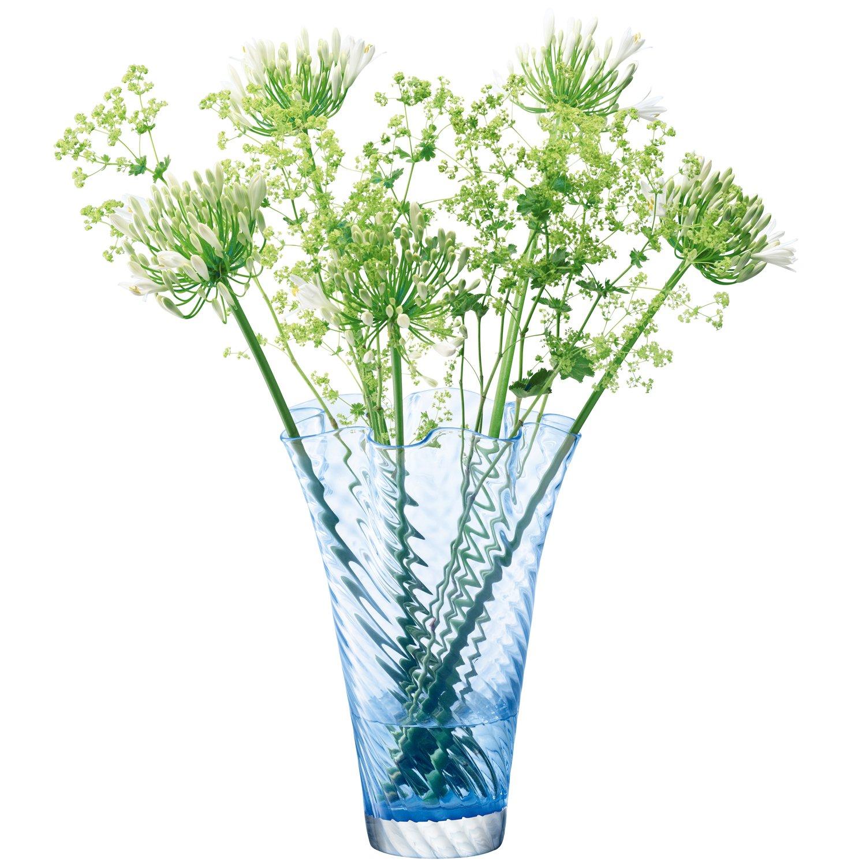 LSA (エルエスエー) G344-25-244 シフォン フラワーベース (花器) 小 ブルー 高さ25cm B00W1XER62 ブルー|小|G344-25-244 小 ブルー
