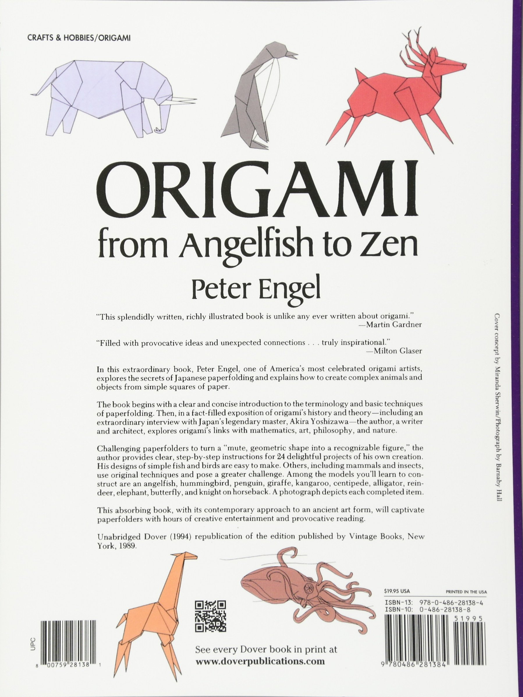 Origami From Angelfish To Zen Dover Papercraft Peter Engel 9780486281384 Amazon Books
