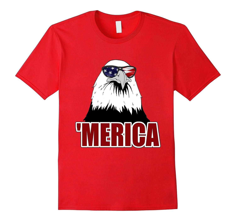'Merica Patriotic Bald Eagle T-Shirt-TH