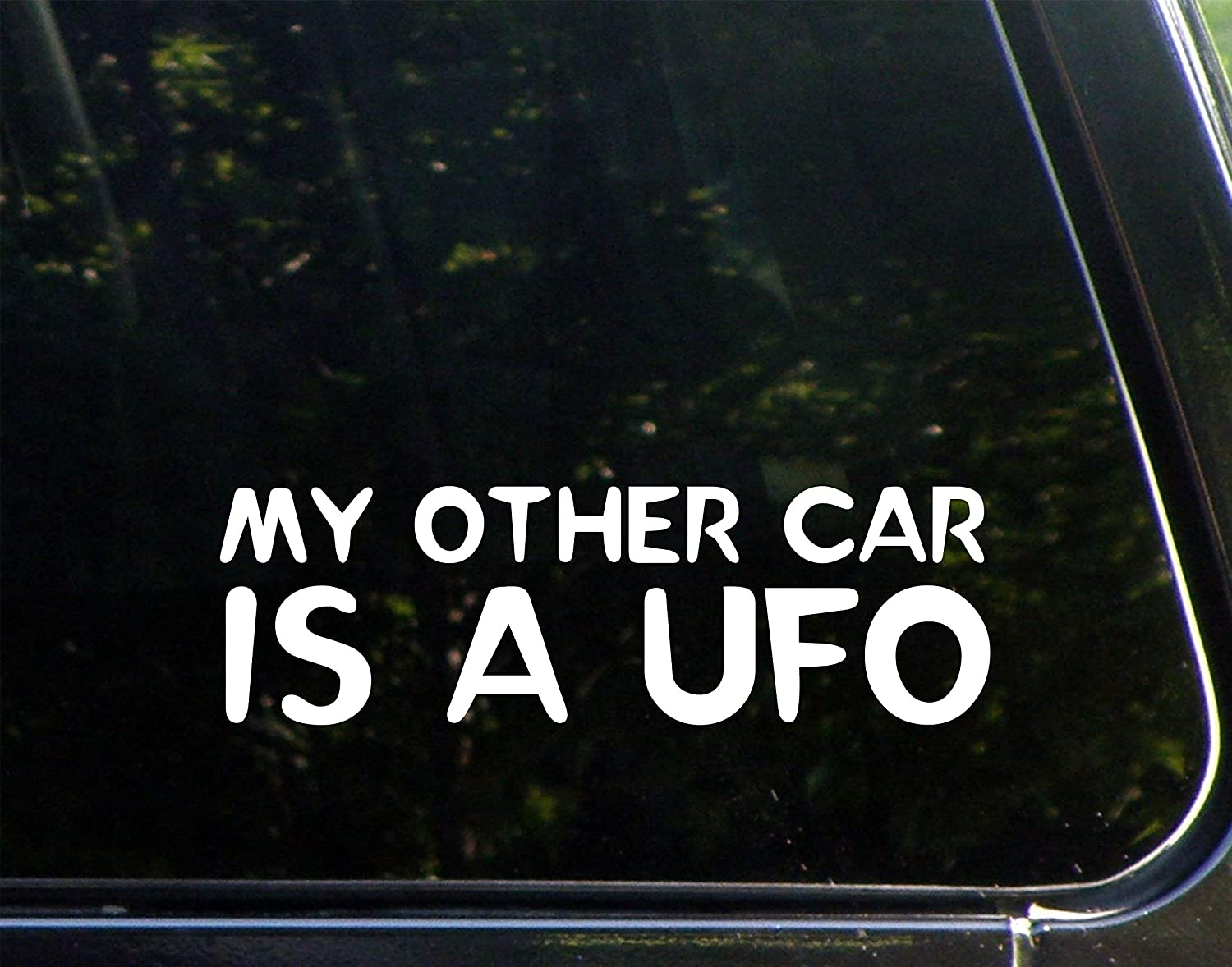 """Diamond Graphics My Other Car is A UFO (8-3/4"""" x 2-3/4"""") Die Cut Decal Bumper Sticker for Windows, Cars, Trucks, Laptops, Etc."""