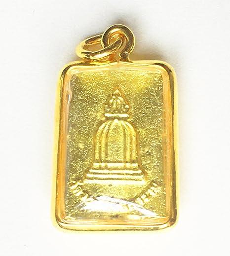 Beautiful Phra Somdej Prok Bodhi Buddha Amulet Luck Rich Wealth