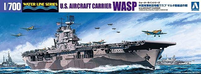 青島文化教材社 1/700 ウォーターラインシリーズ アメリカ海軍 航空母艦WASP マルタ島輸送作戦 プラモデル