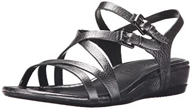 Ecco Footwear Womens Touch 25 Strap Sandal Dress Sandal, Dark Shadow  Metallic, 38 EU