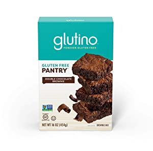 Gluten Free by Glutino Pantry, Brownie Mix, Delightful Dessert, Double Chocolate, 16 Ounce