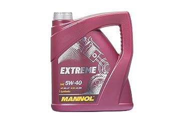 MANNOL Extreme 5 W-40 API SN/CF, Aceite del Motor, 4 L ...