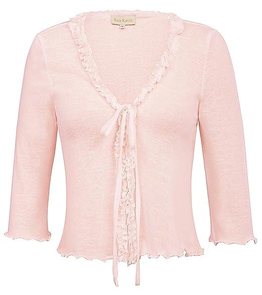 b692b012f38 Shrug Bolero for Women Ruffle Cropped Knit Cardigan (M