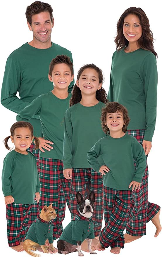 Plaid Matching Family Christmas Pajama Sets