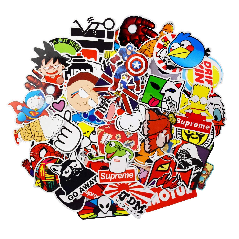Stickers Calcos 100 un. Surtidos Origen U.S.A. (744NQ7K9)