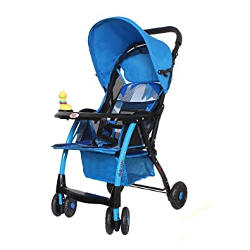 Buy Abdc Kids Premium Ultra Light Flat Bed Baby Pram Stroller Blue Online At Low Prices In India