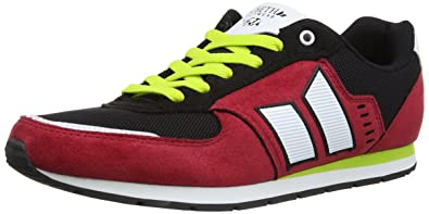 e3da1150339269 Macbeth Mens Fischer Synthetic Suede Low-Top MMF10033.010.09 Muted Red Black