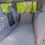 iBuddy Dog Car Seat Covers, Waterproof Dog Seat Cover for Back Seat with Mesh Window,Stain Resistant Dog Car Hammock, Nonslip