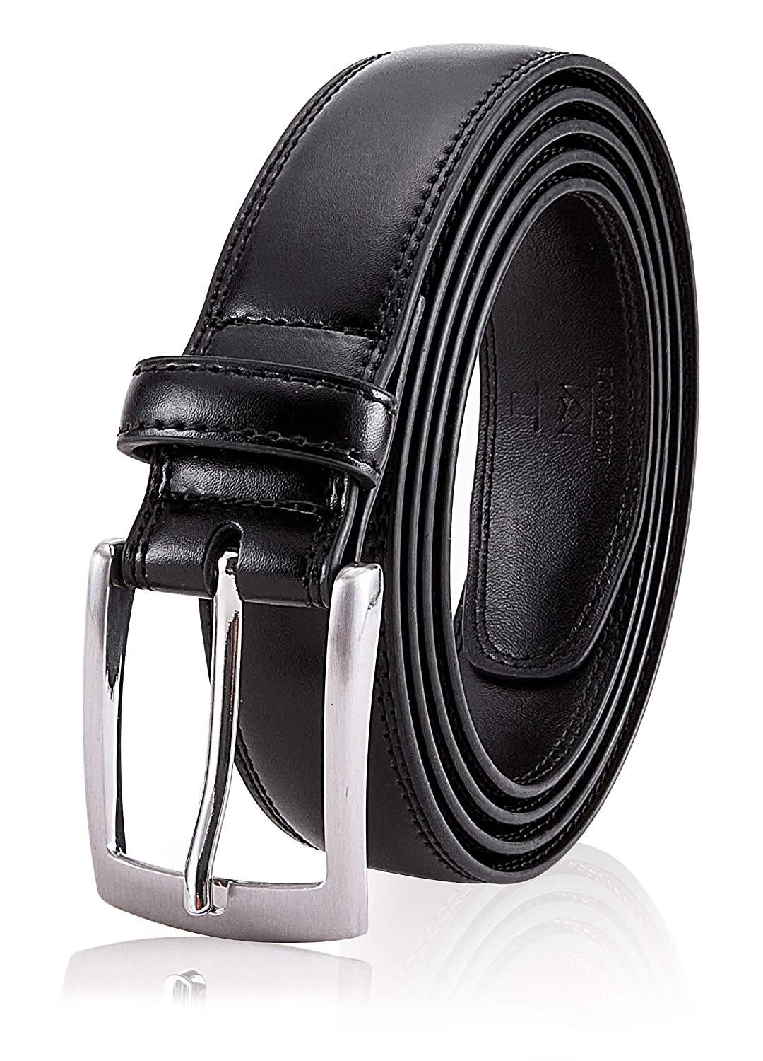 Milorde's Men Genuine Leather Belt with Single Prong Buckle, Fashion & Classic Design for Dress and Causal