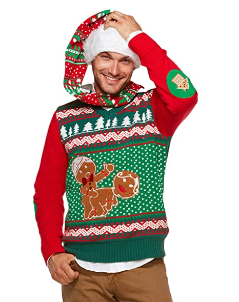 Spencers Ugly Christmas Sweaters.Spencer Gifts Light Up Ugly Christmas Sweater Humping Gingerbread
