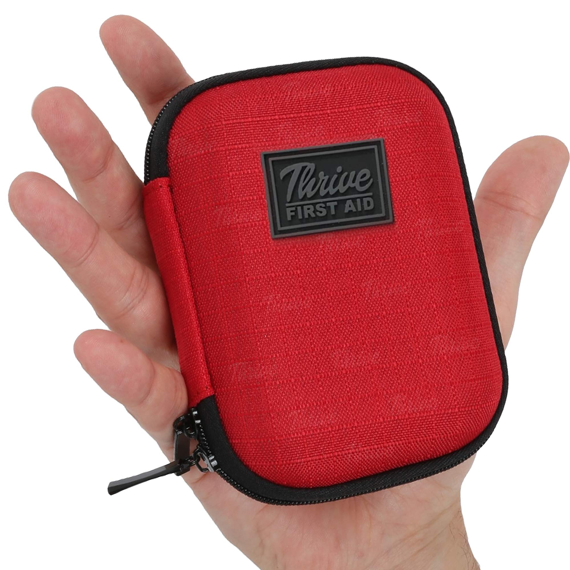 First Aid Kit - 66 Pieces - Small and Light Soft Shell Case - Packed with Hospital Grade Medical Supplies for Emergency and Survival situations. Ideal for Car, Camping, Travel, Sports, Home by Thrive