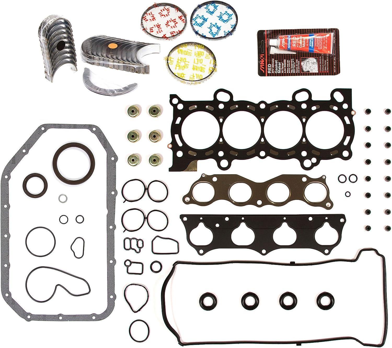 Standard Size Piston Rings Standard Size Main Rod Bearings Evergreen Engine Rering Kit FSBRR4030EVE\0\0\0 Fits 97-01 Honda CR-V 2.0 DOHC B20B4 B20Z2 Full Gasket Set