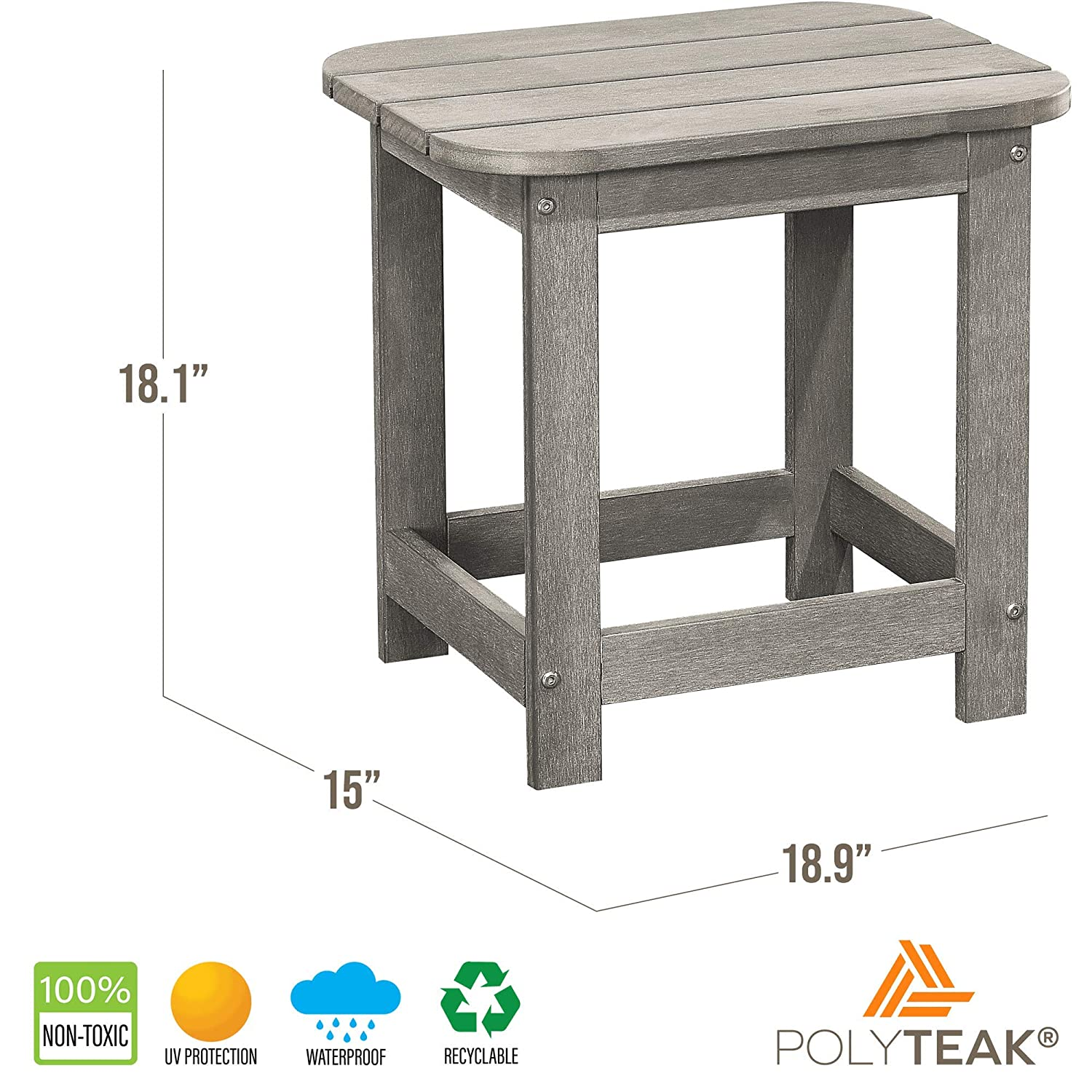 small spaces outside tables side tables