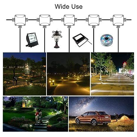 Caja de Conexiones Impermeable, Rixow Conector de Cable Impermeable, Caja Distribuidora de Cables, para Cables SubterráNeos Ip68 Ip66, ...