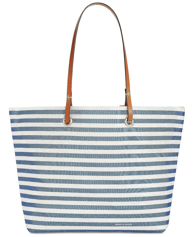 e820bb51da5e Amazon.com: Dooney & Bourke Addison Medium Nylon Stripe Tote (Blue): Shoes