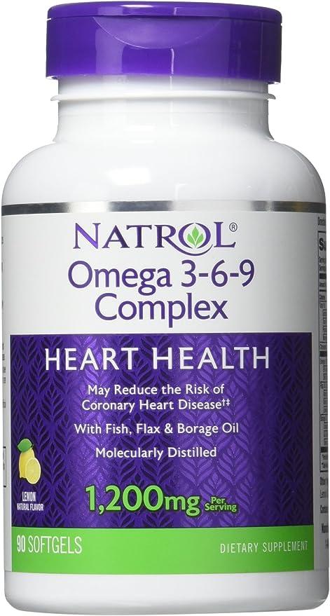 Amazon Com Natrol Omega 3 6 9 Complex 90 Softgels Health
