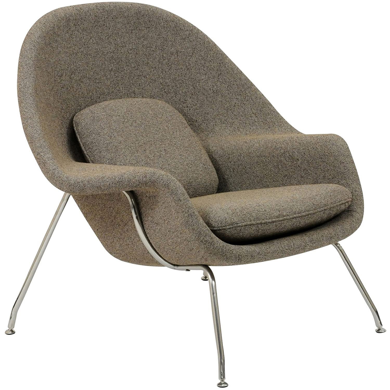 Saarinen womb chair - Amazon Com Modway Eero Saarinen Style Womb Chair And Ottoman Set In Oatmeal Kitchen Dining