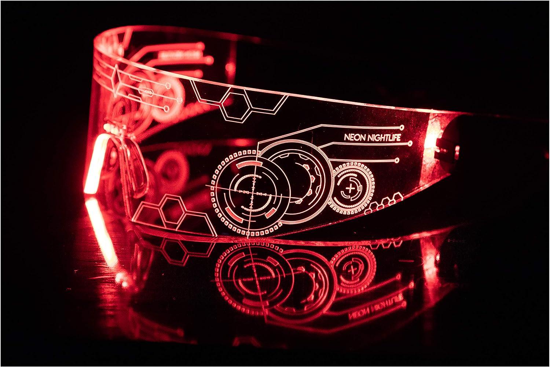 Paire de Neon Light Up Lunettes-plusieurs couleurs//styles-Royaume-Uni vendeur-Post Worldwide