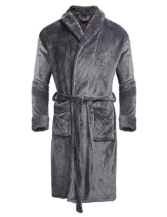 Col Robe De Chambre V Longues Bain Longue Xl Manches Homme S Polaire Unibelle Peignoir En otsrQBdhCx