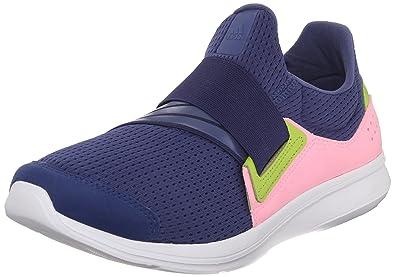 Adidas Performance Women's Lite Slip-On Running Shoe,Raw Purple/Raw Purple/
