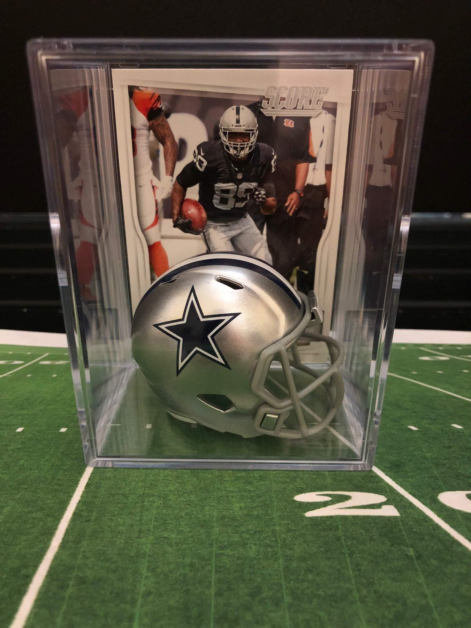 Dallas Cowboys NFL Helmet Shadowbox w/Amari Cooper card