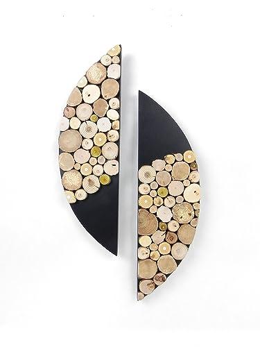 Exceptionnel Tableau Abstrait Moderne, Design, En Bois, Décoration Murale Salon, Tableau  Rondin De