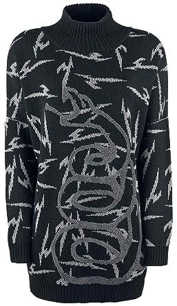 Metallica EMP Signature Collection Sudadera Mujer Cuello Alto Negro M: Amazon.es: Ropa y accesorios