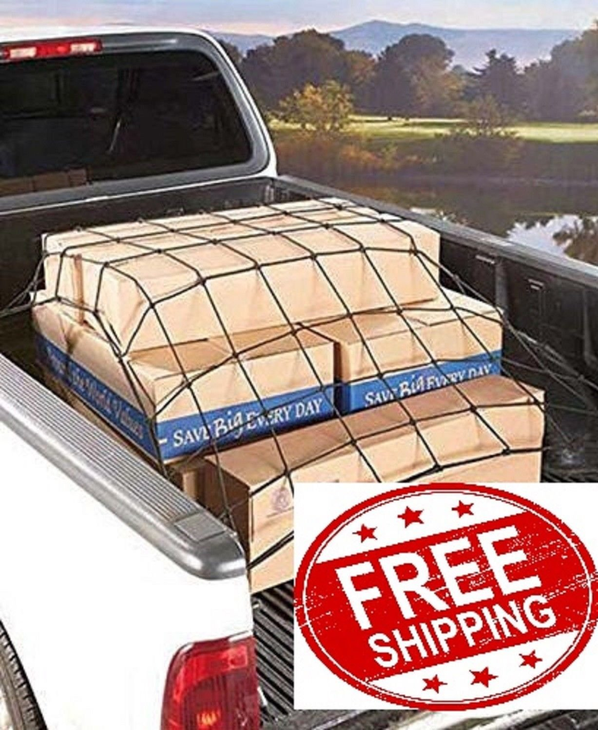 Trunknets Inc Cargo Bed Tie Down Hooks for Ford F-Series Pickup Full Size Short Bed 66 x 74 New 8523744166