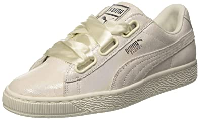 outlet store 7d68d d70c7 Puma Women's Basket Heart Ns Wn S White Leather Sneakers-7.5 UK/India (41  EU) (36410802)