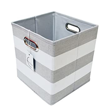 Foldable Storage Cube Basket Bin Box   Best Fabric Canvas Collapsible  Storage Container For Your Office