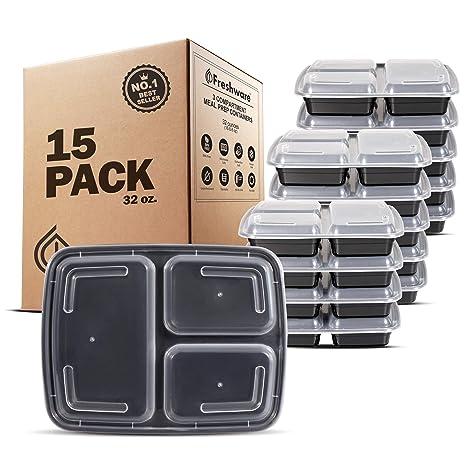 Amazon.com: Freshware - Recipiente para comida preparada ...