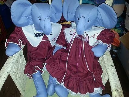 Amazon Com Handmade Alabama Crimson Tide Plush Mascots 30 Ooak