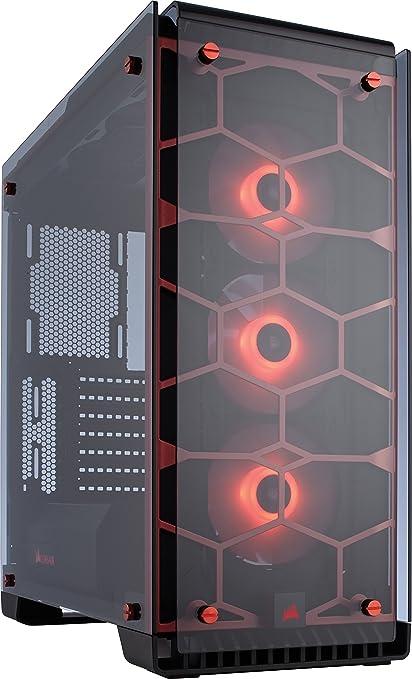d1edb5dbaad CORSAIR Crystal 570X RGB Mid-Tower Case, 3 RGB Fans, Tempered Glass ...