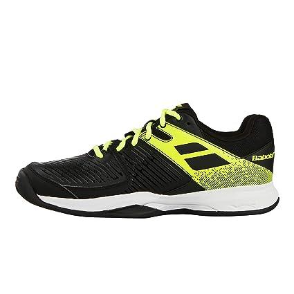 Babolat Hombres Pulsion Clay Zapatillas De Tenis Zapatilla Tierra Batida Negro - Amarillo Limón 47