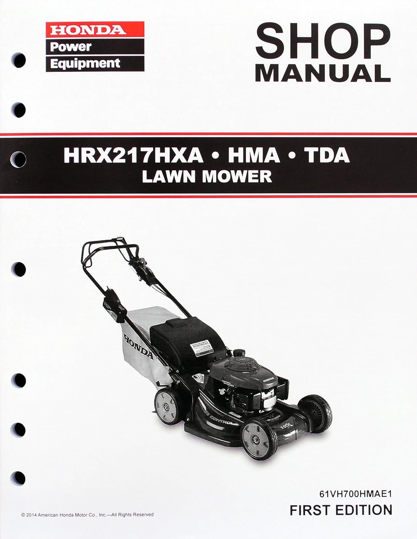 Amazon.com : Honda HRX217 HMA HXA TDA Lawn Mower Service Repair Shop Manual  : Lawn And Garden Tool Replacement Parts : Garden & Outdoor